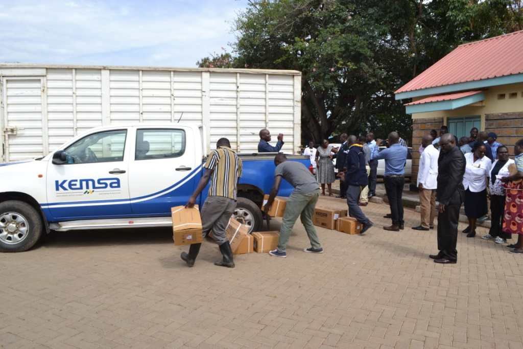 Homabay Receives Sh60 Million Medical Supplies from KEMSA