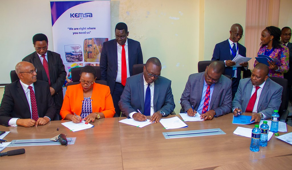 CS Health Officiates Signing of KEMSA Performance Contract