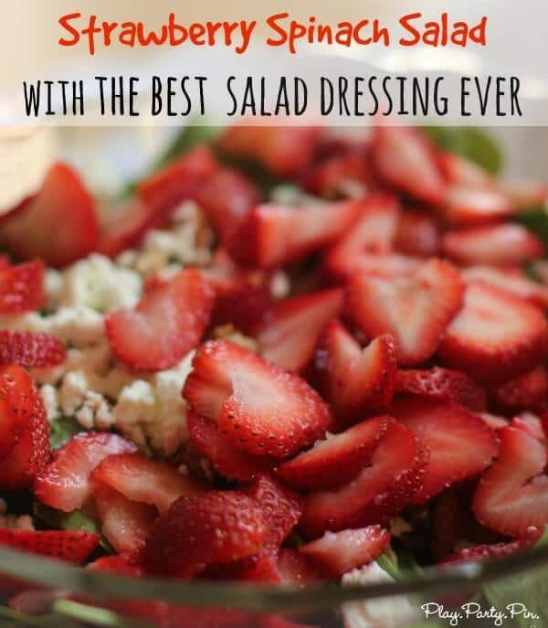 Best Strawberry Spinach Salad from Play. Party. Pin.