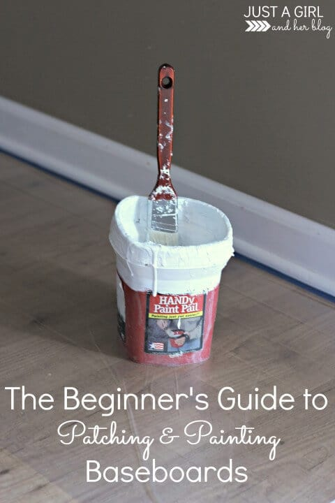 The Beginner's Guide to Patching and Painting Baseboards - Just a Girl and Her Blog featured in the Summer Spotlight