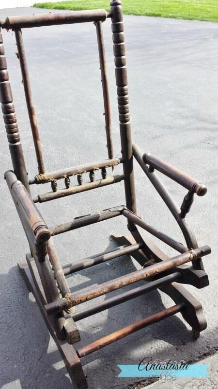 Antique Rocking Chair Restoration Broken to Beautiful