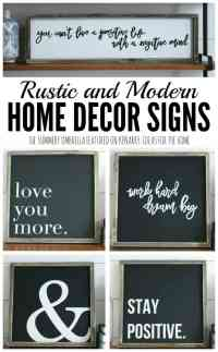 Rustic and Modern Home Decor Signs + Giveaway
