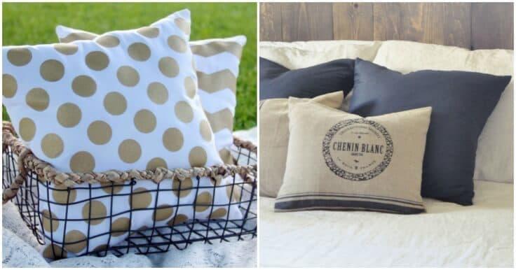 diy throw pillow tutorials 18 great