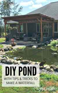 DIY Pond: How to Make a Backyard Oasis with Waterfall