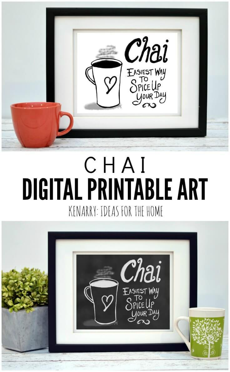 kitchen prints kenmore appliances coffee wall art 10 inexpensive digital near this printable chai would look so cute hung as