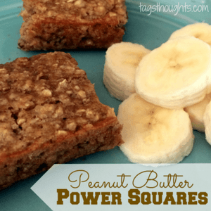 Peanut Butter & Banana Power Squares by Trish Sutton