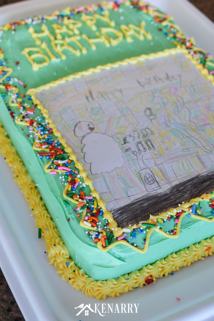 Art Cake Easy Birthday Party Idea Using Kids Artwork Ideas For