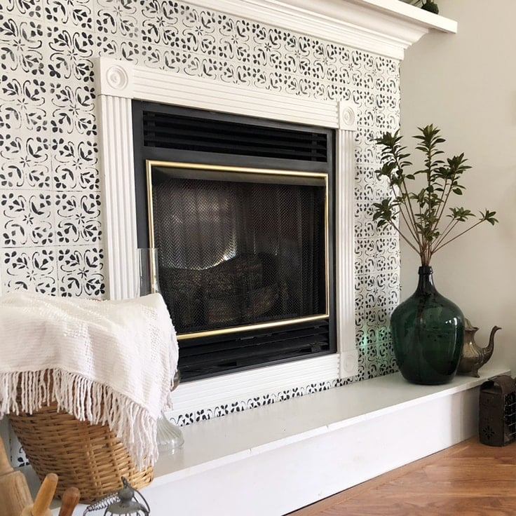 Hanging Wallpaper Around A Fireplace