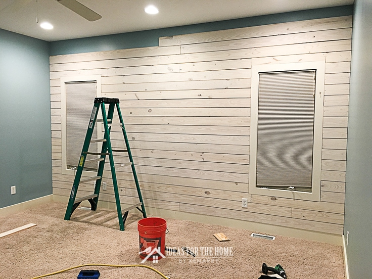 how to make a shiplap wall in your home