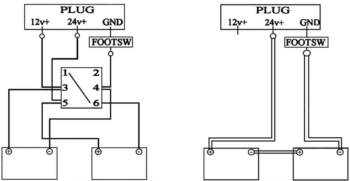johnson bilge pump wiring diagram the water cycle worksheet 12 24 volt conversion of a 24v system to straight 24v12 5