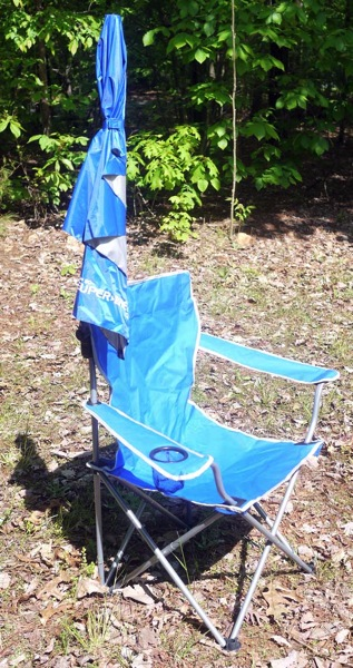 super brella chair ikea stool chairs review sitting in the shade with umbrella closed