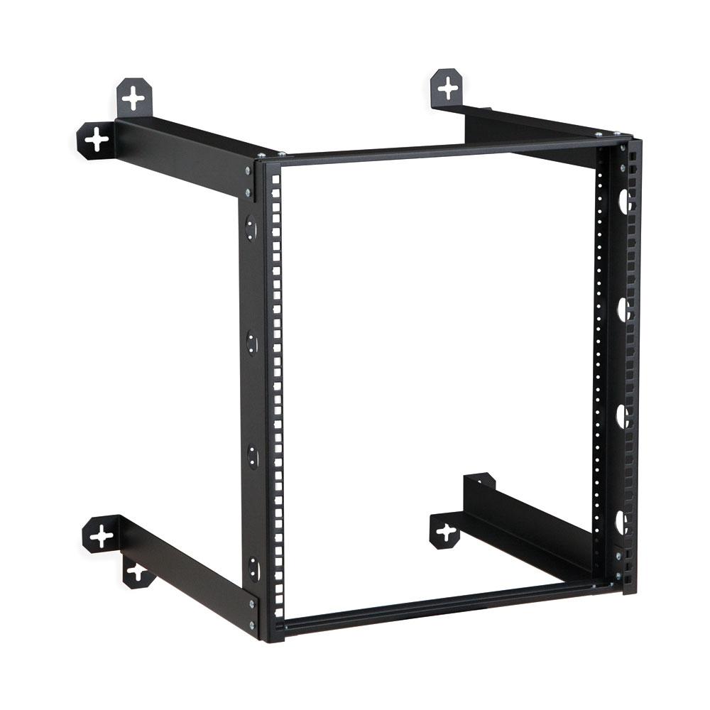 12u v line wall mount rack 18 depth