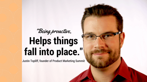 Justin Topliff - product marketing manager