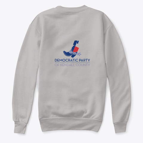 Gray sweatshirt with KCDP logo