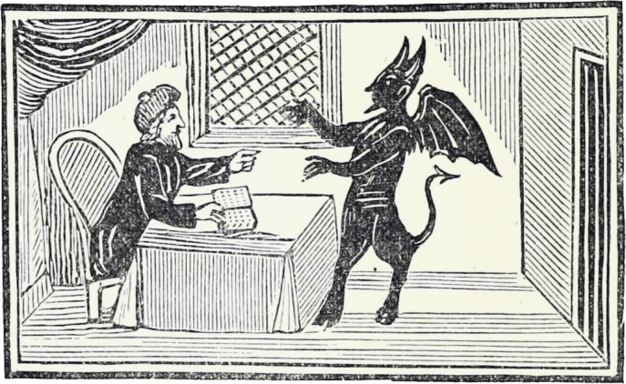 Faust and Mephisto, woodcut from an old chapbook