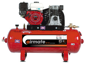 SIP 04458 – Airmate Industrial Super Compressor – ISHP8/200Ltr Electric Start (Honda Engine)