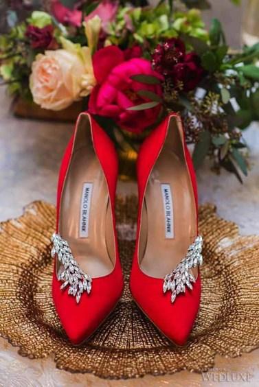 Scarpe da sposa rosse