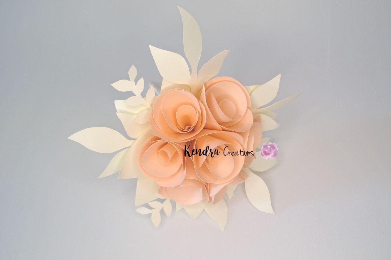 bouquet comunione boccioli carta