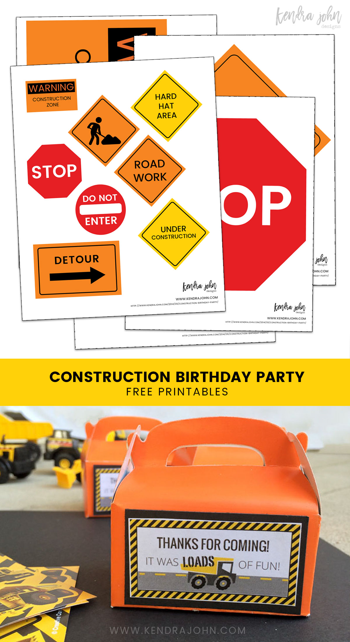 Construction Party Signs Free Printables Unique Birthday Party Ideas And Themes