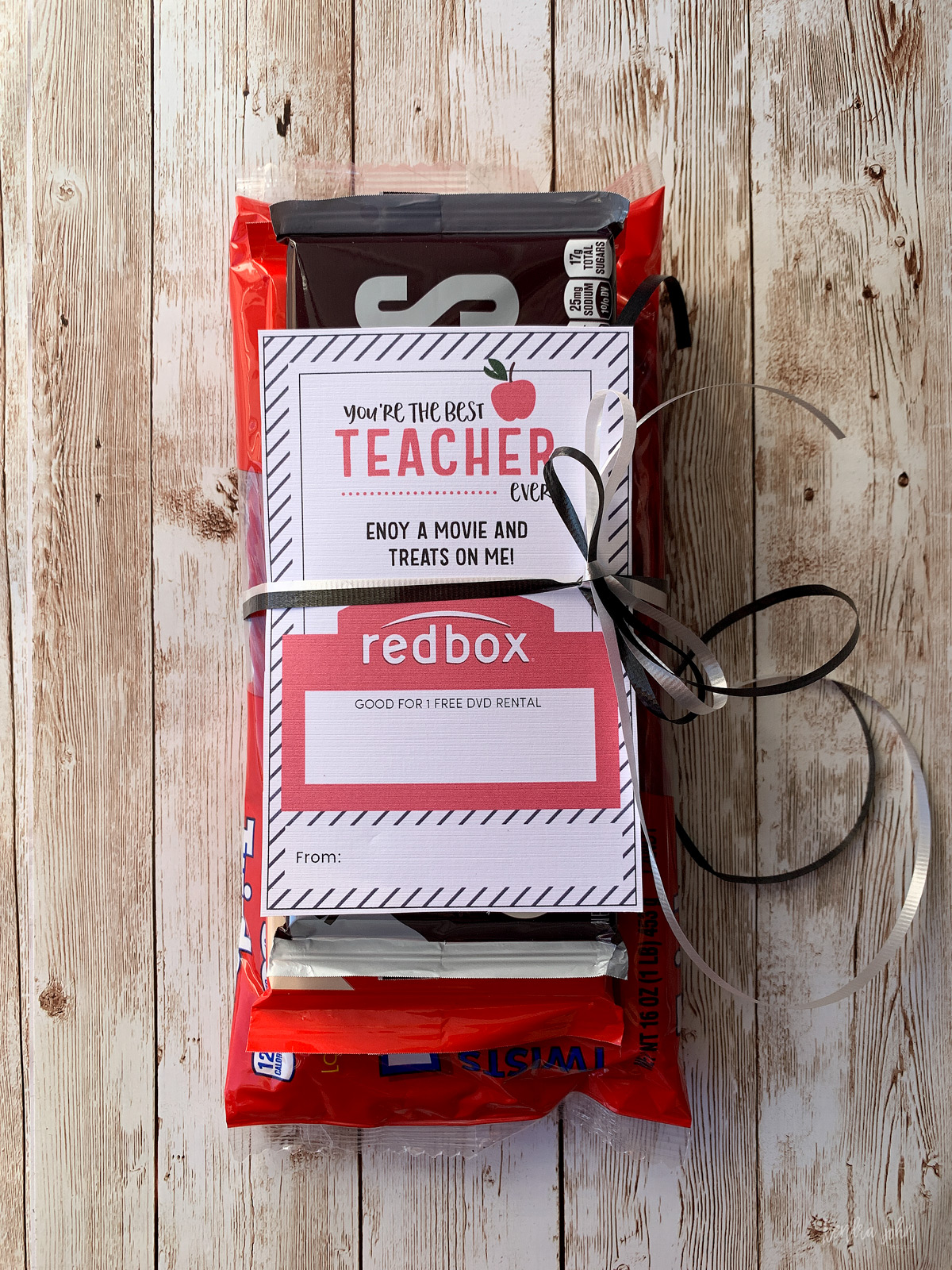 image relating to Redbox Teacher Appreciation Printable named 20+ Redbox Present Tag Printables Pics and Designs upon Weric