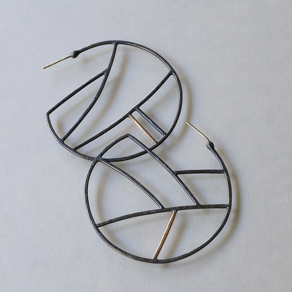 Handmade Silver Earrings: Geometric Earrings