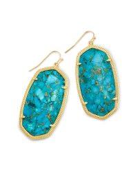 Danielle Gold Statement Earrings in Turquoise | Kendra Scott