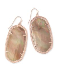 Danielle Statement Earrings in Brown Pearl | Kendra Scott