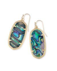 Elle Gold Drop Earrings Abalone Shell | Kendra Scott