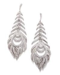 Elettra Feather Statement Earrings in Silver | Kendra Scott