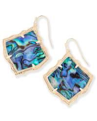 Kirsten Drop Gold Earrings in Abalone Shell | Kendra Scott