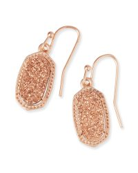 Lee Rose Gold Drop Earrings in Drusy | Kendra Scott