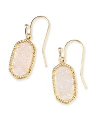 Lee Gold Drop Earrings in Iridescent Drusy | Kendra Scott