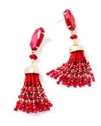 Dove Gold Statement Earrings In Red Pearl   Kendra Scott