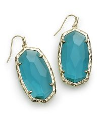 Ella Gold Drop Earrings in London Blue | Kendra Scott