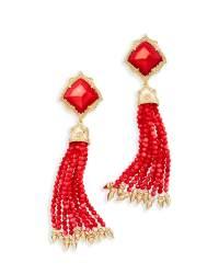 Misha Statement Earrings in Red Pearl   Kendra Scott