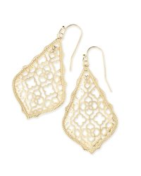 Addie Gold Drop Earrings in Gold Filigree | Kendra Scott