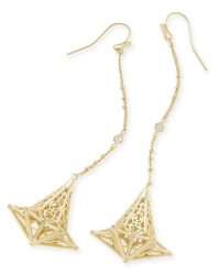 Diana Shoulder Duster Earrings in Gold | Kendra Scott