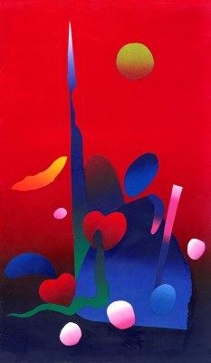 love island silkscreen collage, 3013