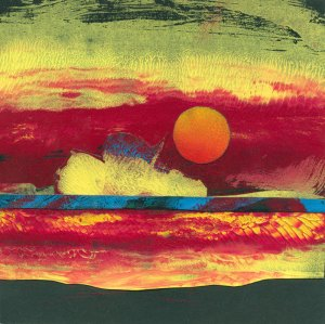 sunset , 2015 monoprint
