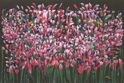 wild flower color pencil print by Ken Falnaa