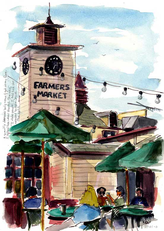 Painting En Plein Air and Seeking the Lost at Farmers Market