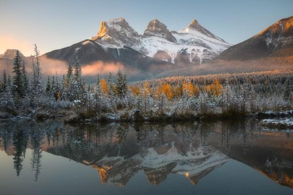 Three Sisters Canadian Rockies Ken Koskela