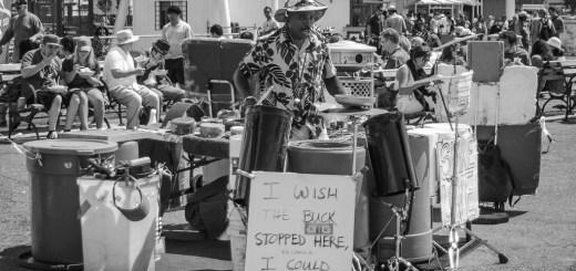 Percussionist on Fisherman's Wharf, San Francisco