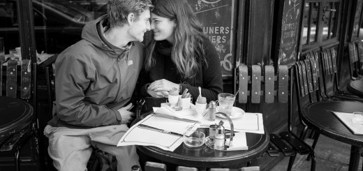 A young couple in love on Ile St-Louis