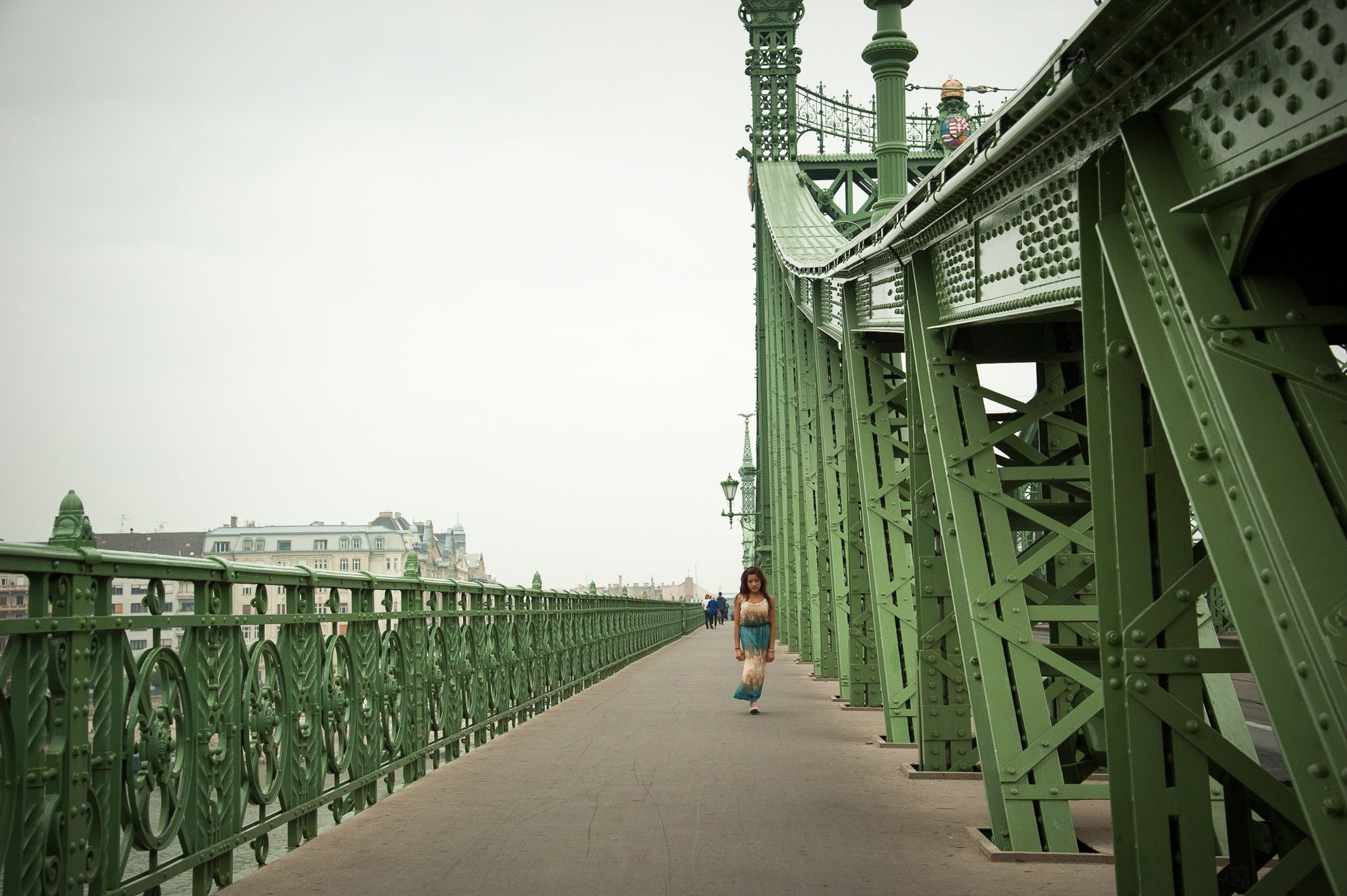 Walking across Liberty Bridge in Budapest, Hungary Nikon D700, 1/2000 sec, ƒ5.6, 50mm, ISO200