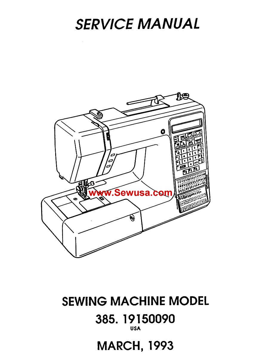Kenmore Sewing Machine Service Manuals