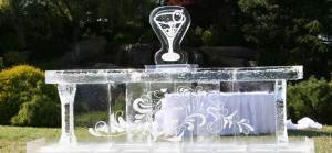 Equestrian wedding icesculpture