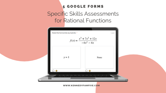 Rational Functions:  Specific Skills Assessments