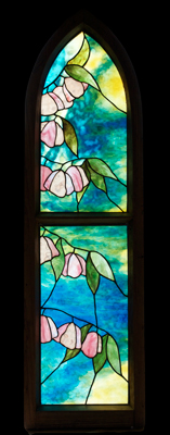 Cherry Blossom in Gothic Frame