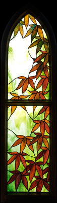 Japanese Maple Framed Stained Glass Panel © David Kennedy 2011